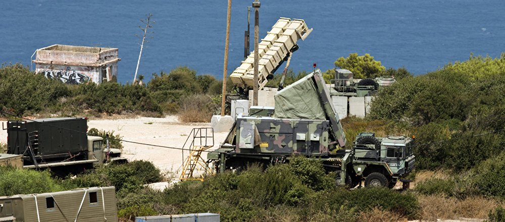 (File) A Patriot surface-to-air missile battery is positioned in the Mediterranean coastal city of Haifa north of Israel on August 29, 2013