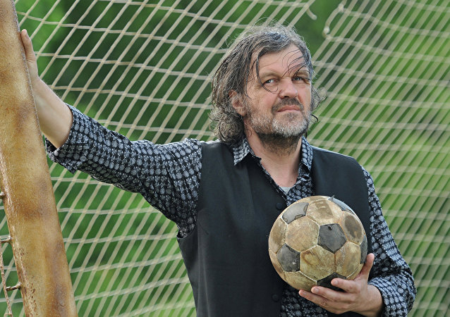 Serbian filmmamker Emir Kusturica filming an ad for the UEFA EURO 2012 in the Kuskovo park. File photo