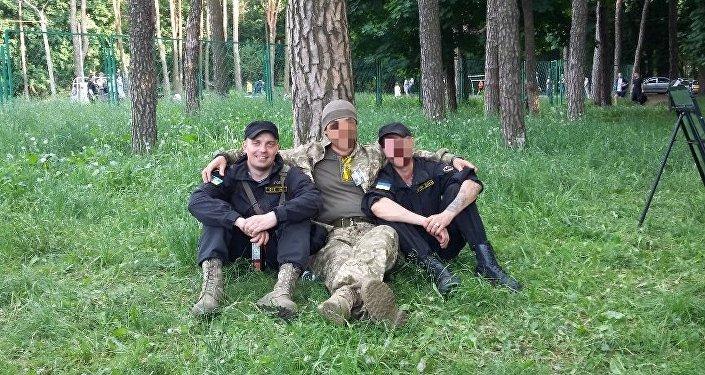 Sanovsky at a training center outside Kiev.