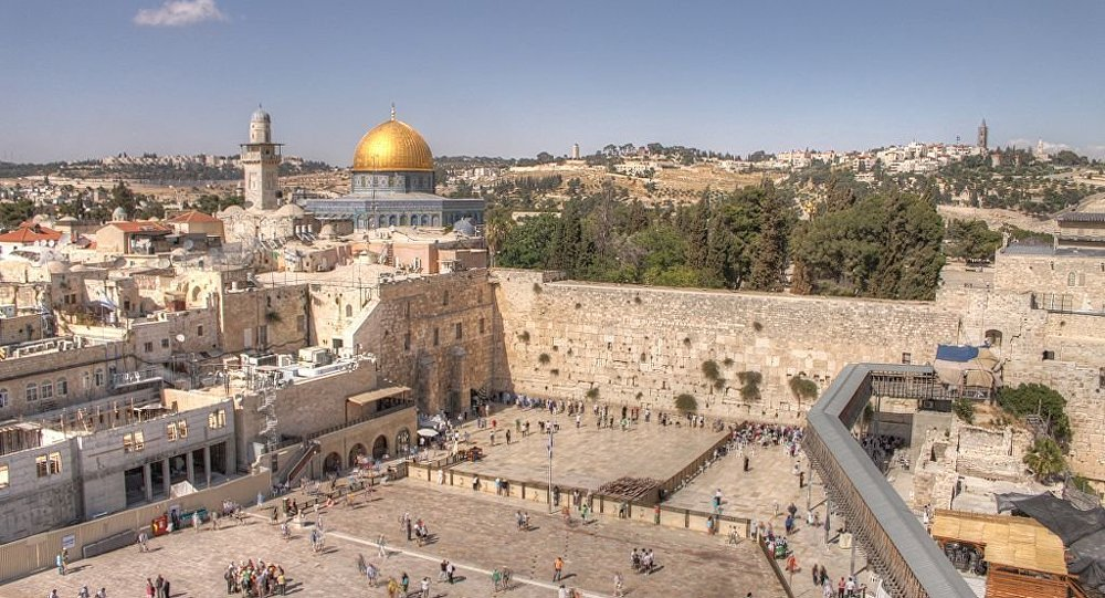 The Western Wall and Dome of the rock in the old city of Jerusalem