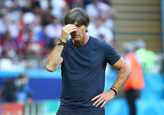 Soccer Football - World Cup - Group F - South Korea vs Germany - Kazan Arena, Kazan, Russia - June 27, 2018 Germany coach Joachim Low looks dejected during the match