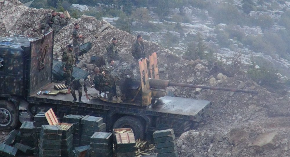 THE SYRIAN ARMY HAS CONDUCTED NIGHT FIRING OF TERRORISTS IN LATAKIA