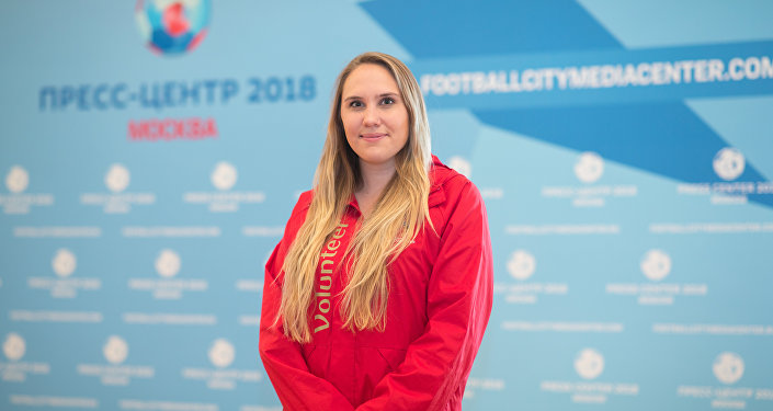 Julia Ivanova, FIFA 2018 World Cup volunteer From the United States
