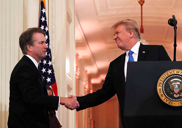 U.S. President Donald Trump introduces his Supreme Court nominee judge Brett Kavanaugh in the East Room of the White House in Washington