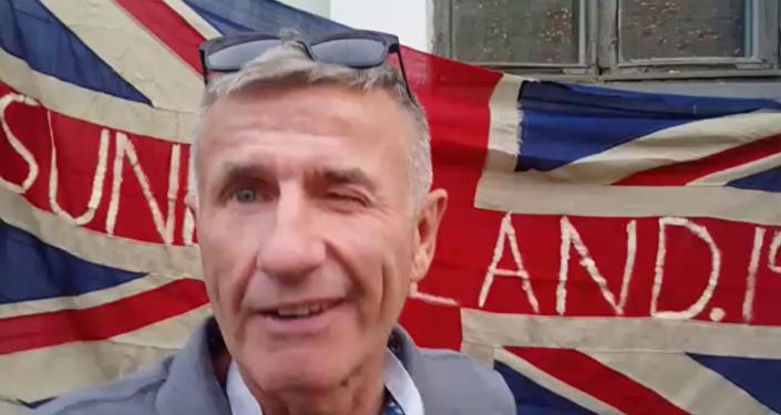 An England fan in Russia