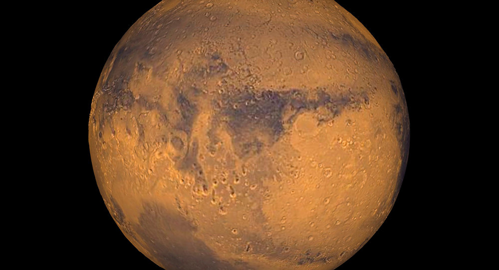 The planet Mars showing showing Terra Meridiani is seen in an undated NASA image. NASA will announce a major science finding from the agency's ongoing exploration of Mars during a news briefing September 28 in Washington