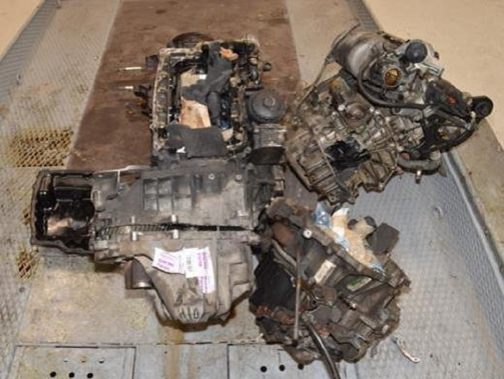 The guns were hidden in engine blocks which were brought into the UK from Poland