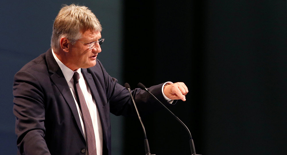 Co-leader of Alternative for Germany (AfD) Joerg Meuthen speaks during the two-day party congress in Augsburg, Germany, June 30, 2018