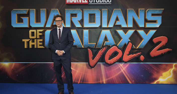 Director James Gunn poses for photographers upon arrival at the premiere of the film 'Guardians of the Galaxy Vol. 2', in London, Monday, Apr. 24, 2017