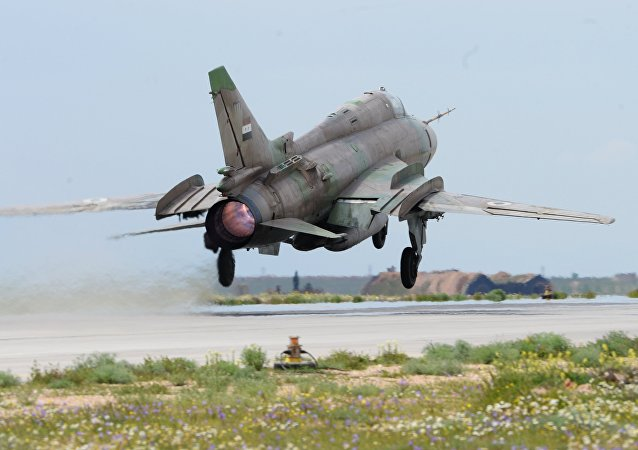 Su-22 jet of the Syrian Air Force. File photo