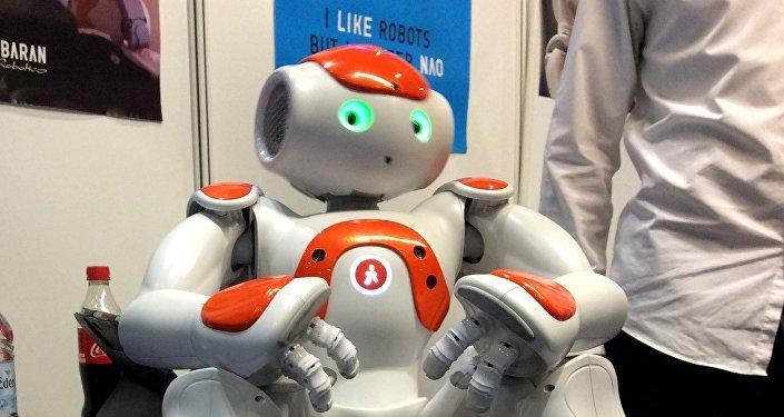 Interacting robot Nao