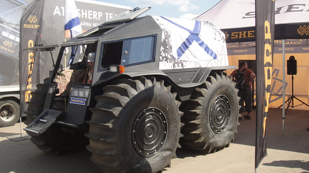 Russian monster truck SHERP
