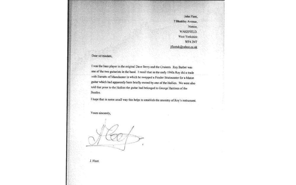 Letter by John Fleet