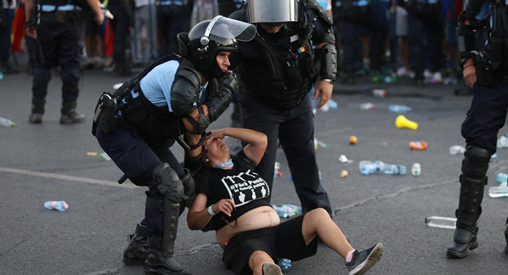 Protests in Romania.