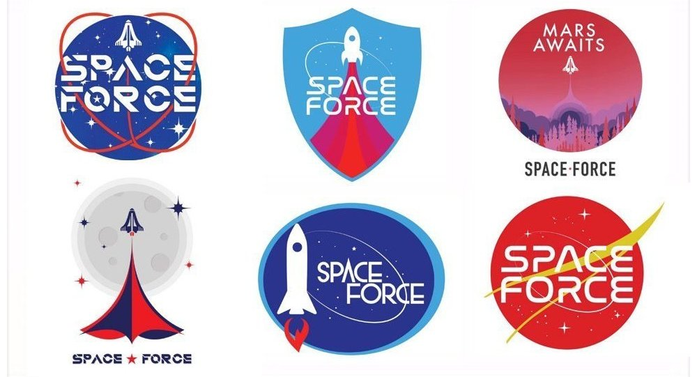 Proposed Space Force Logos