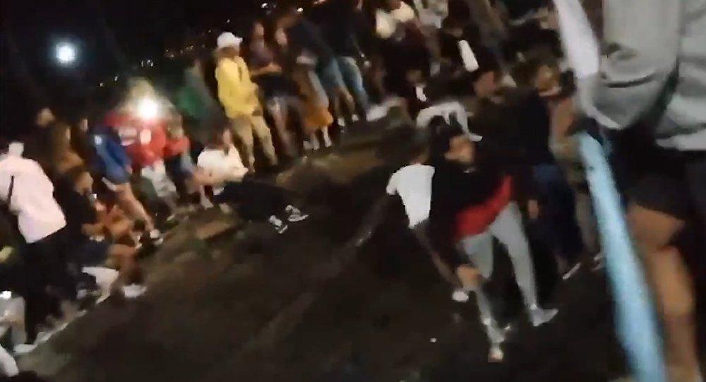Promenade collapses in Spain