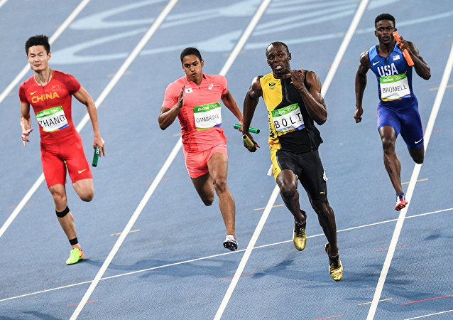 Olympics 2016 Athletics. Men. 4x100 meters