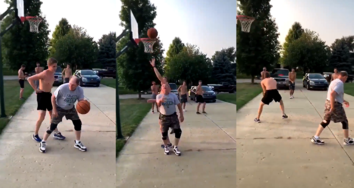 Pump Faking Pops Trips up Teen During Pickup Game