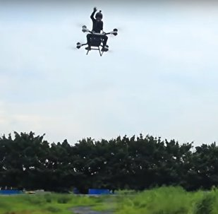 World's first flying scooter floats over China's Dongguan