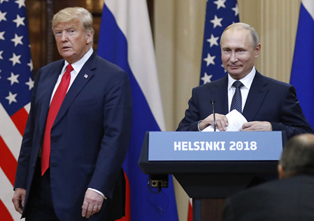 In this July 16, 2018, file photo, U.S. President Donald Trump, left, and Russian President Vladimir Putin arrive for a press conference after their meeting at the Presidential Palace in Helsinki, Finland. If Donald Trump is serious about his public courtship of Vladimir Putin, he may want to take pointers from one of the Russian leader's longtime suitors: Chinese President Xi Jinping. In this political love triangle, Putin and Xi are tied by strategic need and a rare dose of personal affection, while Trump's effusive display in Helsinki showed him as an earnest admirer of the man leading a country long considered America's adversary