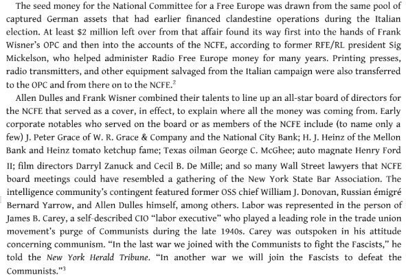 Excerpt from Blowback: America's Recruitment of Nazis and Its Effects on the Cold War © Christopher Simpson