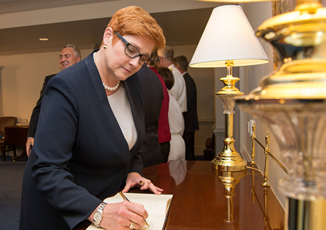 Australia's Minister for Defense Marise Payne at the Pentagon in Washington, D.C., Sept. 20, 2017.