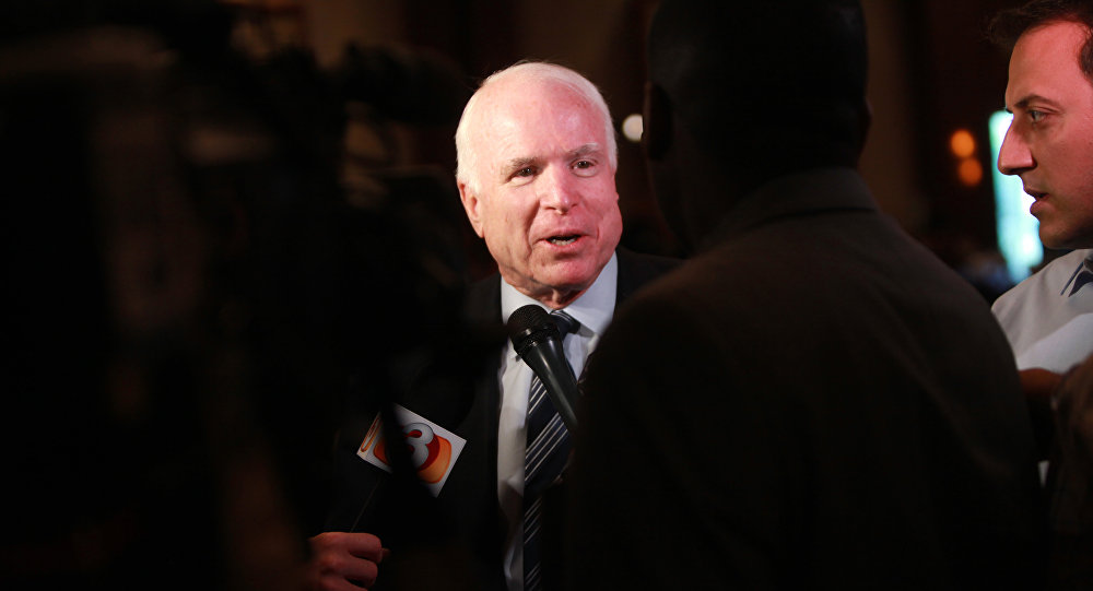 Senator John McCain speaking at the Arizona Chamber of Commerce & Industry's Annual Legislative Luncheon in Phoenix, Arizona.