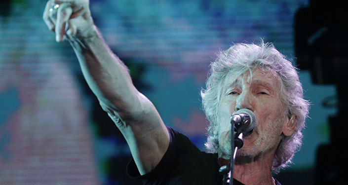 Former member of Pink Floyd, British singer and songwriter Roger Waters performs during his concert of the Us+Them tour in Rome's Circus Maximus, Saturday, July 14, 2018