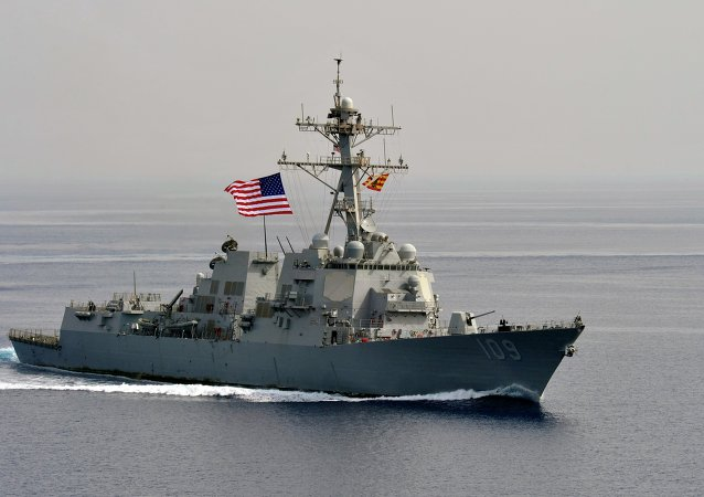 The guided-missile destroyer USS Jason Dunham