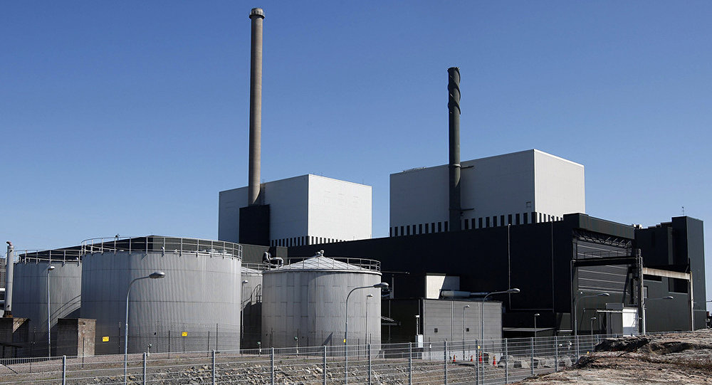 An exterior view of the Oskarshamn nuclear power plant in Oskarshamn, southeastern Sweden (File)