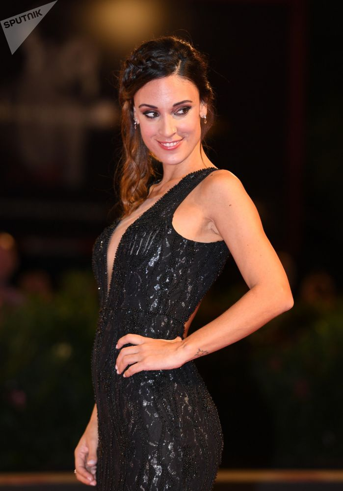 Argentine actress Martina Gusman at the premiere of the The Creators movie at the 75th Venice International Film Festival.