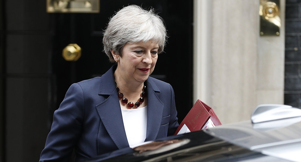 Britain's Prime Minister Theresa May leaves 10 Downing street to take part in Prime Ministers questions at the House of Commons in London on September 5, 2018.