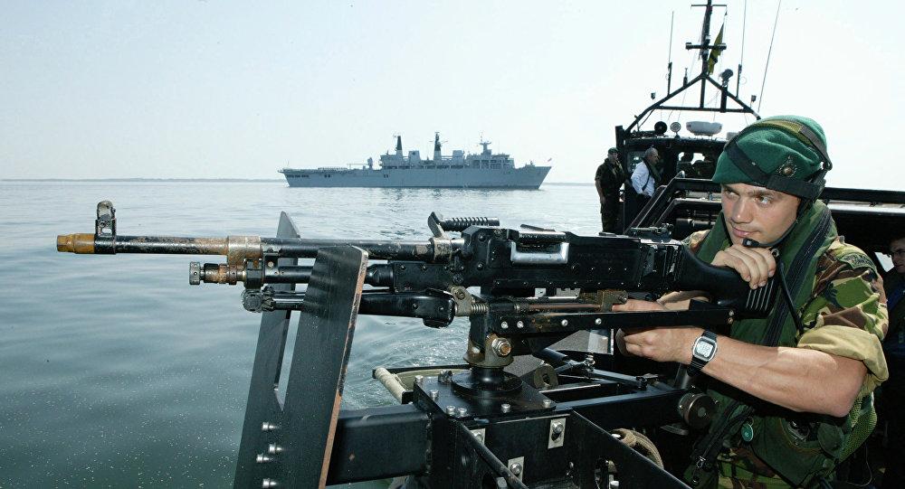 British landing platform dock ship Albion