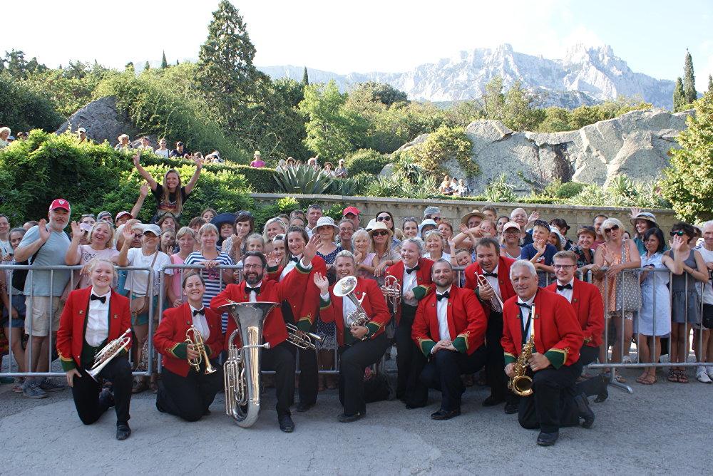 Symphonic Brass Wales near the town of Alupka in Crimea