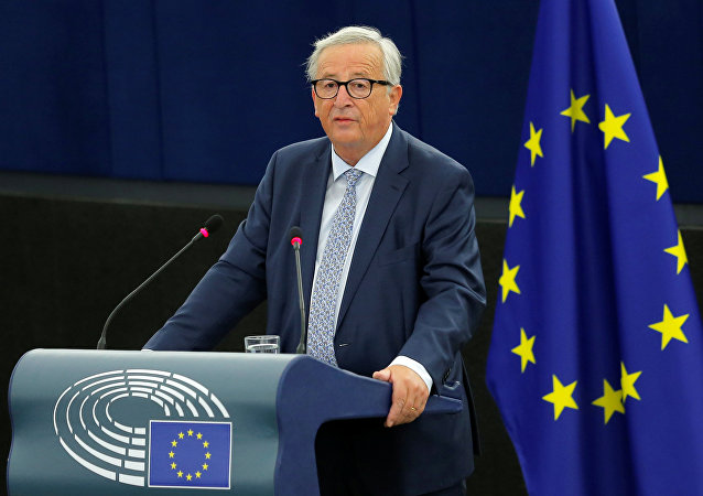 European Commission President Jean-Claude Juncker delivers a speech during a debate on The State of the European Union at the European Parliament in Strasbourg, France, September 12, 2018
