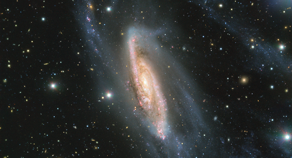 The European Southern Observatory releases fascinating image of a spiral galaxy known as NGC 3981.