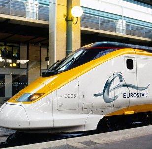 Eurostar Train at Paris Gare Du Nord Station
