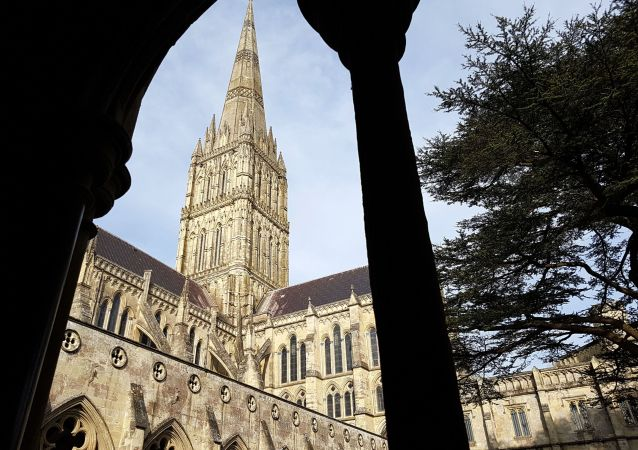The view of Salisbury cathedral