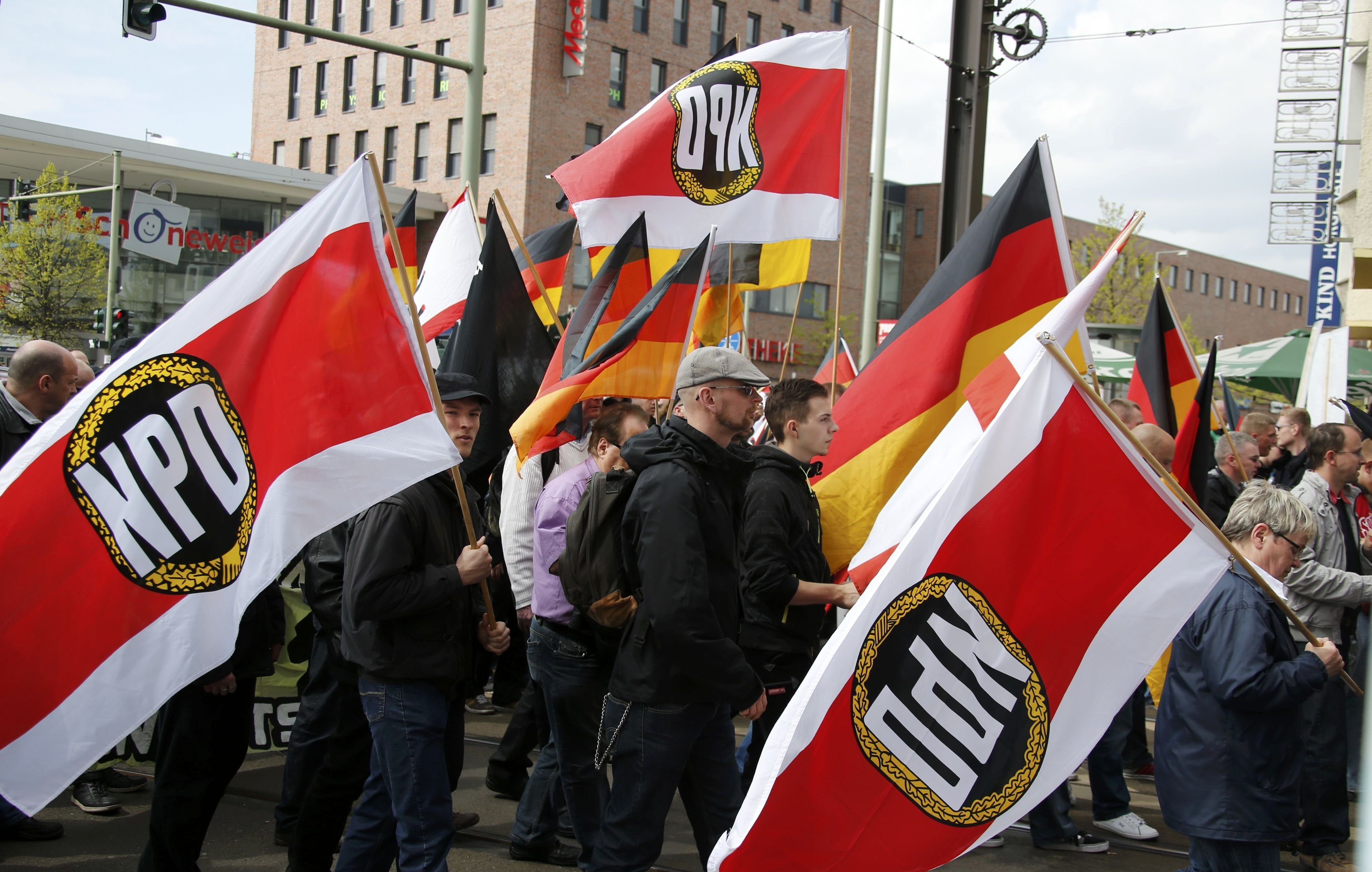 Supporters and members of the far-right National Democratic Party (NPD) (File)