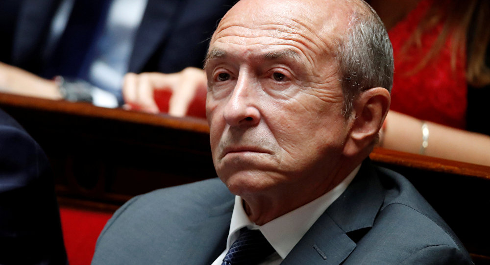 French Interior Minister Gerard Collomb listens to questions to the government session at the National Assembly in Paris, France, September 12, 2018