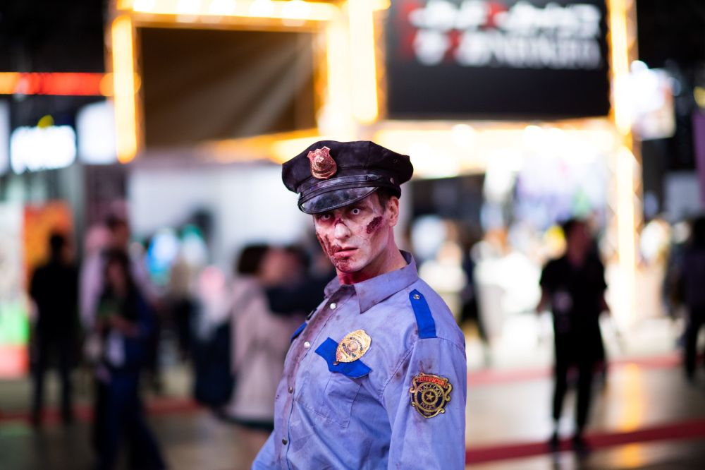 Zombie Cosplayer at Tokyo Game Show
