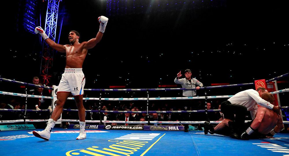 Anthony Joshua v Alexander Povetkin - WBA Super, IBF, WBO & IBO World Heavyweight Titles - Wembley Stadium, London, Britain - September 22, 2018