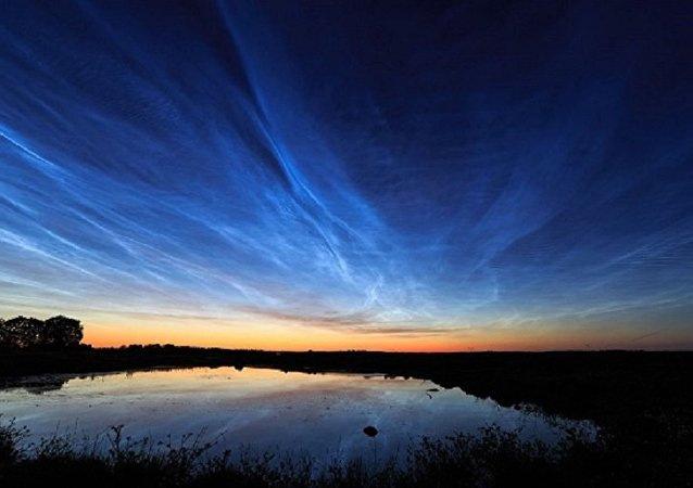 Noctilucent clouds over Uppsala, Sweden