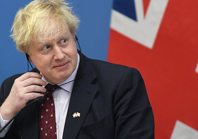 Then British Foreign Minister and leading Brexit supporter Boris Johnson gives a joint press conference with Hungary's Minister of Foreign Affairs and Trade (not in picture) following talks in Budapest on March 2, 2018.