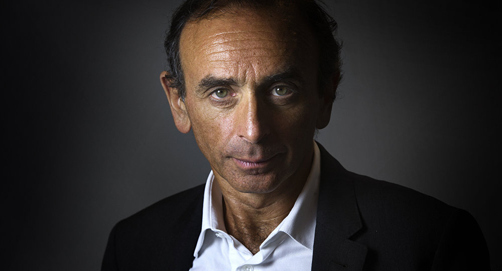 French journalist and writer Eric Zemmour poses at his office in Paris on January 12, 2015