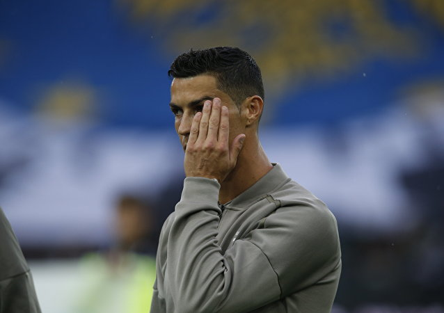 Juventus forward Cristiano Ronaldo warms up prior to the Serie A soccer match between Udinese and Juventus, at the Dacia Arena stadium in Udine, Italy, Saturday, Oct.6, 2018