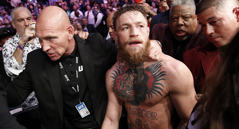 Conor McGregor after bout with Khabib Nurmagomedov