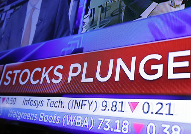 A headline scrolls on a television screen on the floor of the New York Stock Exchange, Wednesday, Oct. 10, 2018. Stocks are extending their slump on Wall Street, led by drops in big technology companies, as rising bond yields draw investors out of stocks.