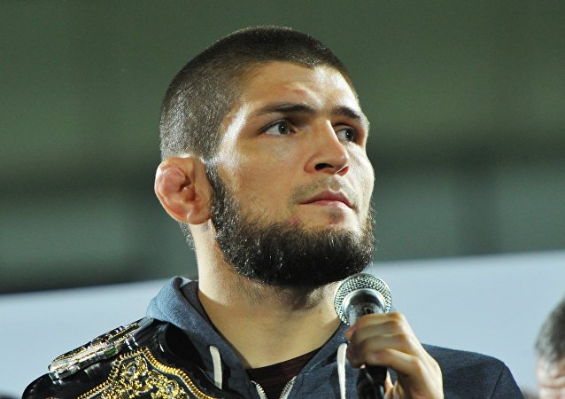 Khabib Nurmagomedov With UFC Champion Belt