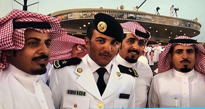 Abdel Aziz Shabib al-Balawi (second from the left)